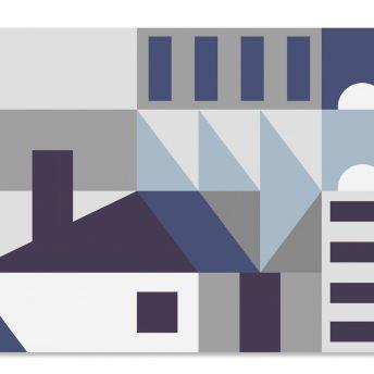 mural dziecięcy Geometry