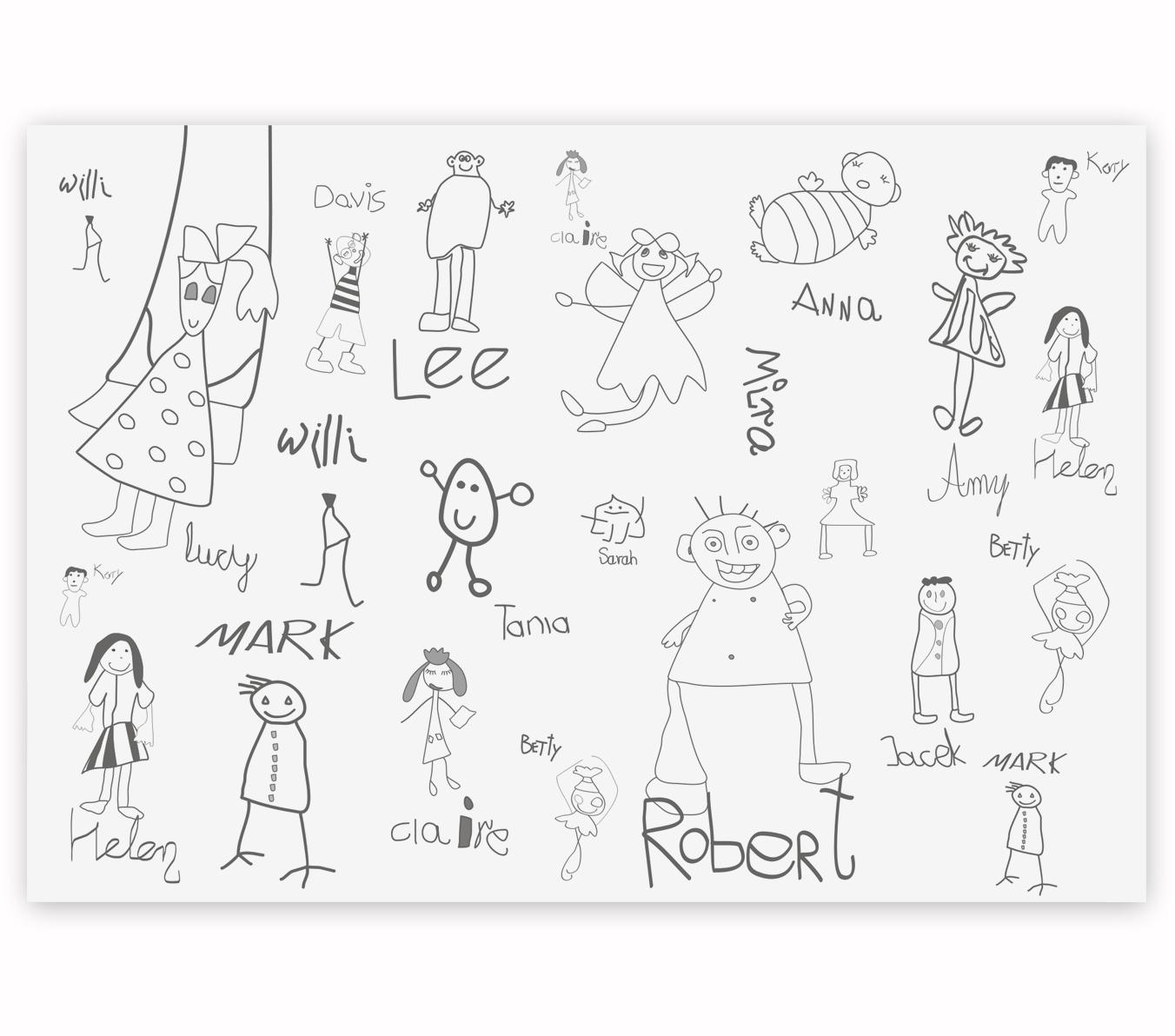 mural dziecięcy friends