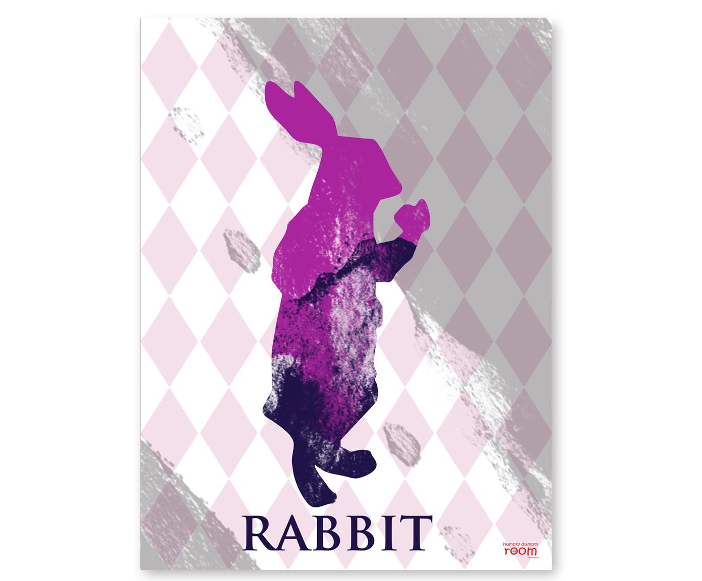 plakat dla dzieci Rabbit