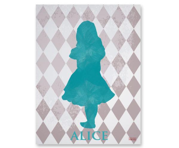 Plakat dla dzieci alice in wonderland