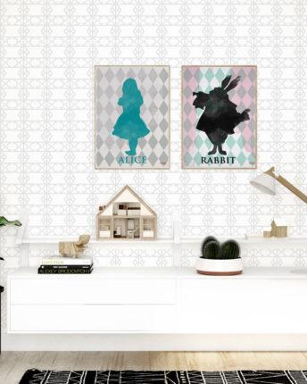 plakat dla dzieci black rabbit