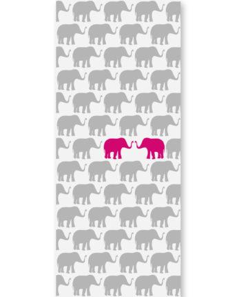 tapeta dziecięca pink elephants