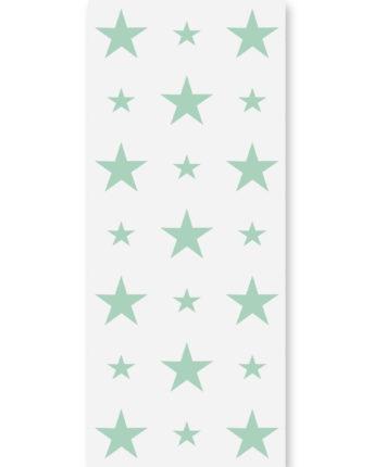 Tapeta dla dzieci Mint Stars 3