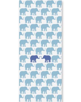 tapeta dziecięca blue elephants