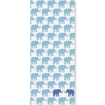 Tapeta dziecięca Blue Elephants 2