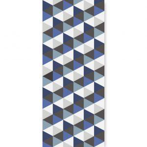 Tapeta Hexagons Short Blue