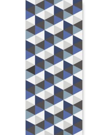 Tapeta dla dzieci Hexagons Short Blue