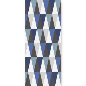 tapeta hexagons long blue