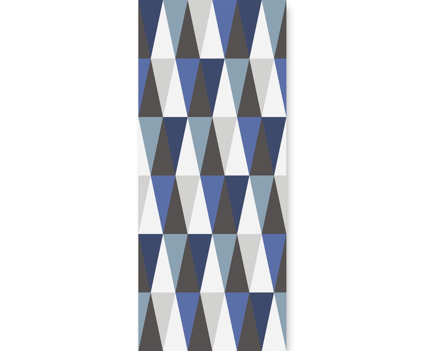 tapeta dla dzieci hexagons long blue
