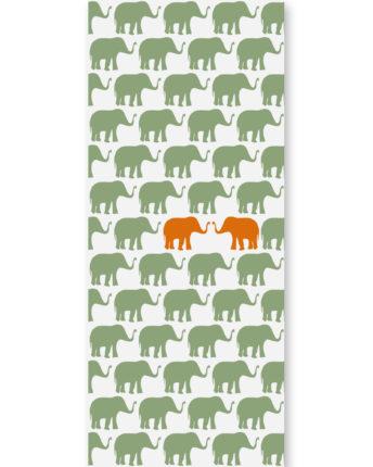 tapeta dziecięca Orange Elephants
