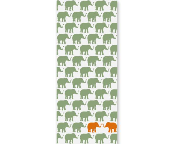 Tapeta dziecięca Orange Elephants 2