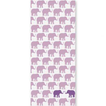 tapeta dziecięca violet elephants 2