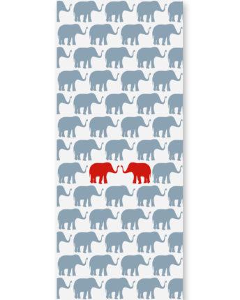 Tapeta dziecięca Red Elephants