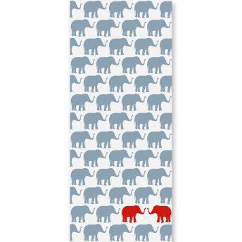 Tapeta dziecięca Red Elephants 2