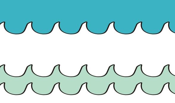 tapeta dla dzieci waves