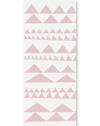 tapeta dziecięca pink triangles