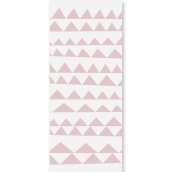 tapeta dziecięca pink triangles 2