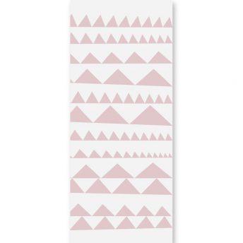 tapeta dziecięca Pink triangles 3