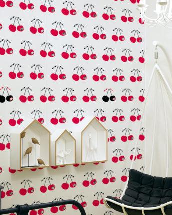 tapeta dla dzieci cherries