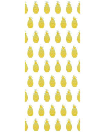 Tapeta dla dzieci Yellow Pineapples
