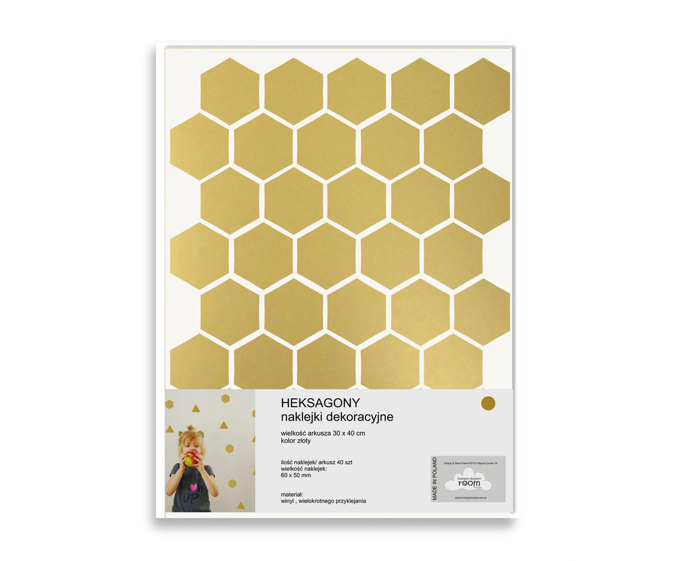 Naklejki Hexagons