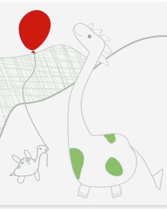 mural dziecięcy dino