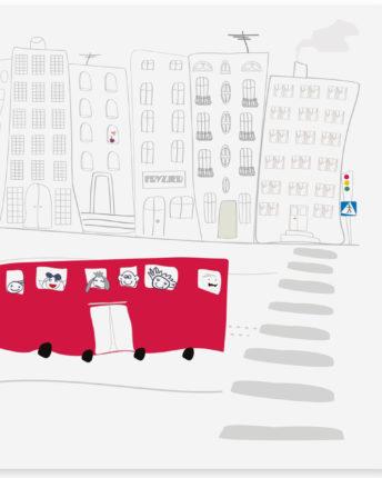 mural dziecięcy school bus