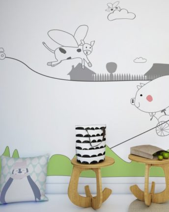 mural ścienny farma