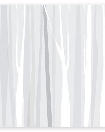 mural dla dzieci winter forest