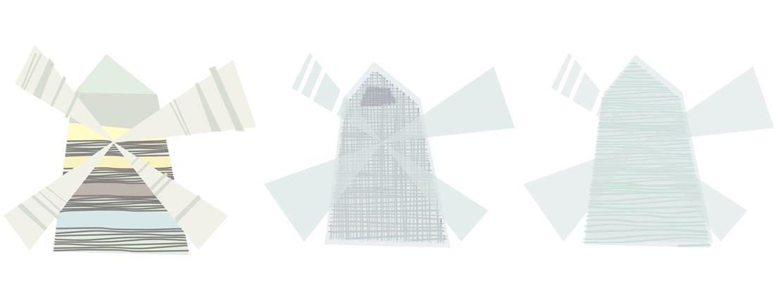 Tapeta dla dzieci windmill