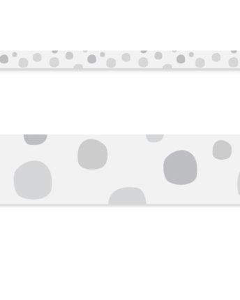 Border ścienny Grey Dots