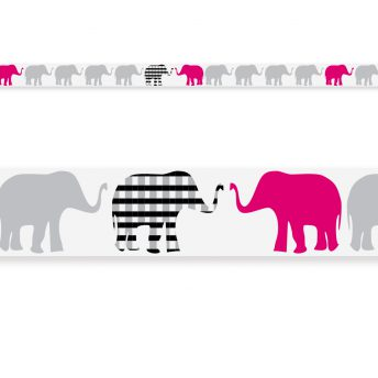 border Pink Elephants