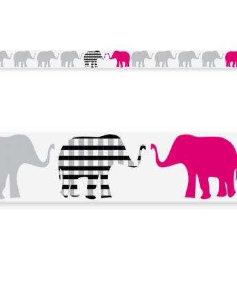 border Pink Elephants