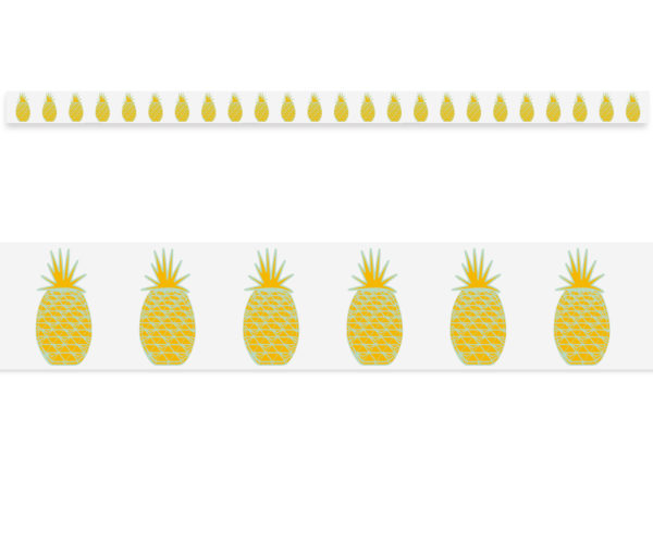 Border Yellow Pineapples