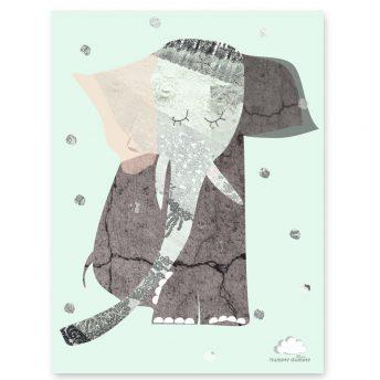 Plakat Mint Lady Elephant
