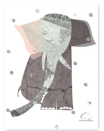 plakat dla dzieci lady elephant