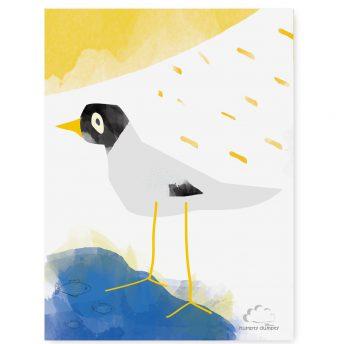 plakat dziecięcy white bird
