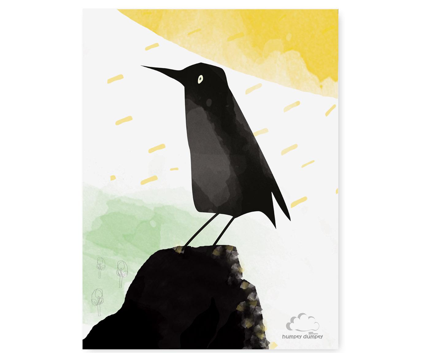 plakat dziecięcy Black Bird