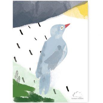 plakat dziecięcy blue bird