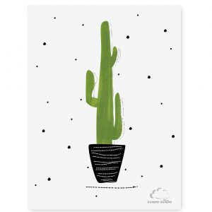 Plakat dziecięcy Cactus Dots