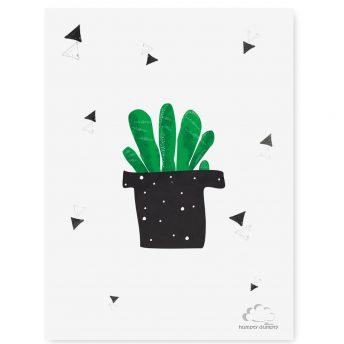plakat dzieciecy cactus Traingles