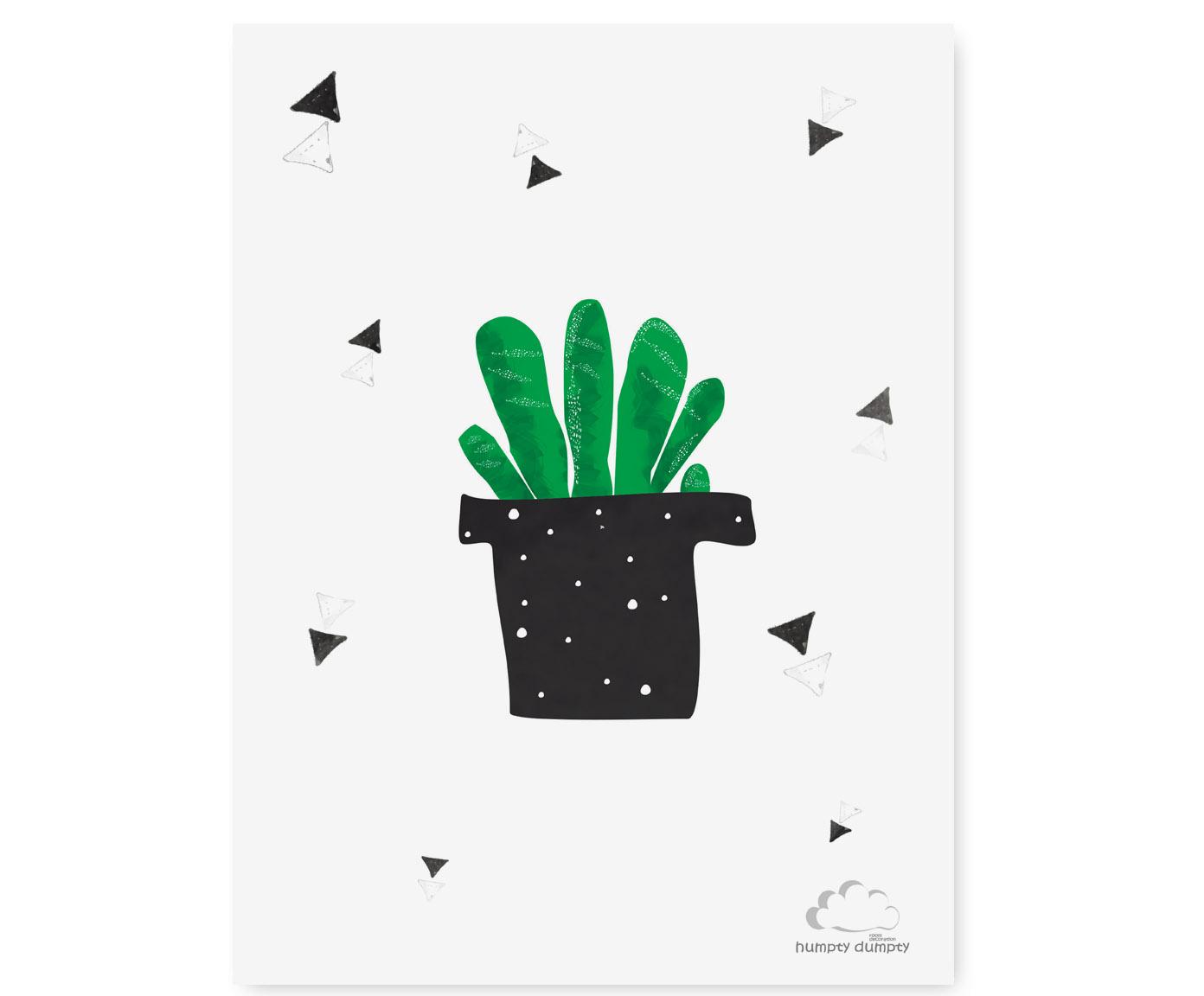 plakat dzieciecy cactus Triangles