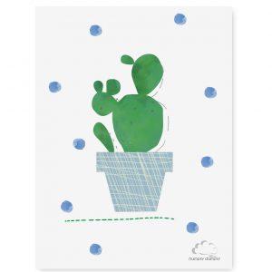 plakat dziecięcy cactus blue dots