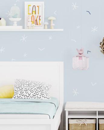 tapeta dziecięca Siple Stars White
