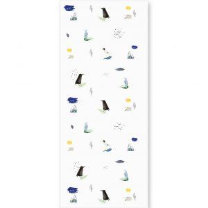 tapeta dla dzieci w kolorowe ptaki