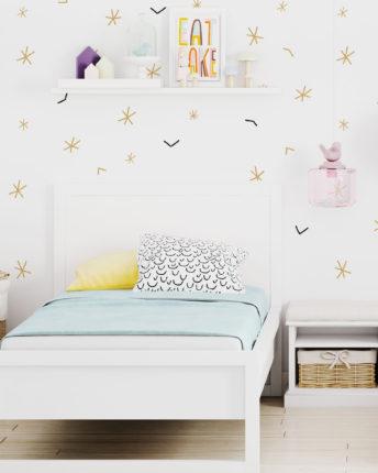 Tapeta dziecieca simple stars gold