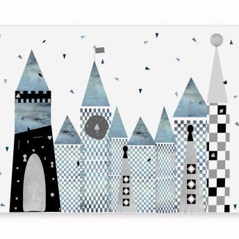 mural dziecięcy blue wonderland