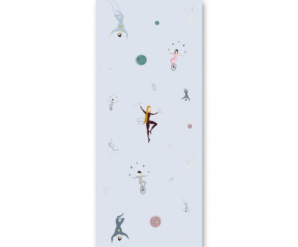 tapeta dla dzieci Blue acrobats