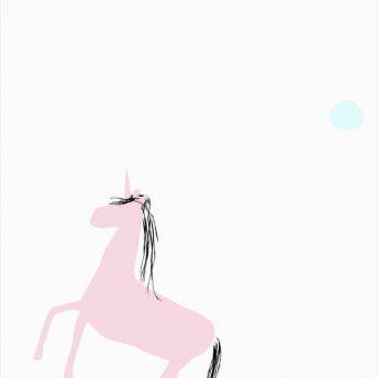 tapeta dla dzieci unicorn dots