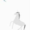 tapeta dla dzieci grey unicorn